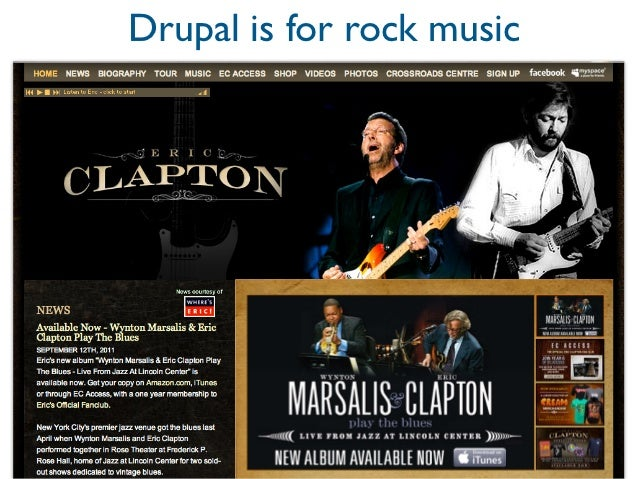 Drupal is for rock music