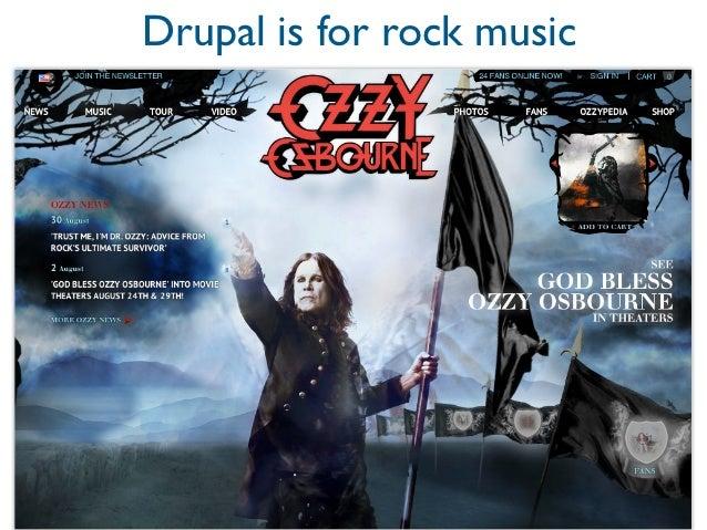 Drupal is for pop music
