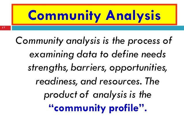 community diagnosis Community diagnosis what is community diagnosis as a profile, it is a description of the community s state of health as determined physical, economic, political and social factors.