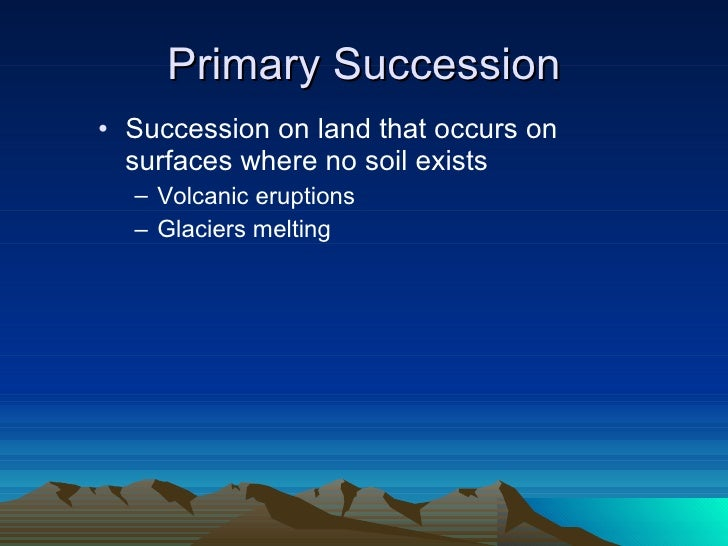 community sucession Ecological succession as subsequent invasion of species take a predictable   by the community that is, succession is community-controlled even though the.