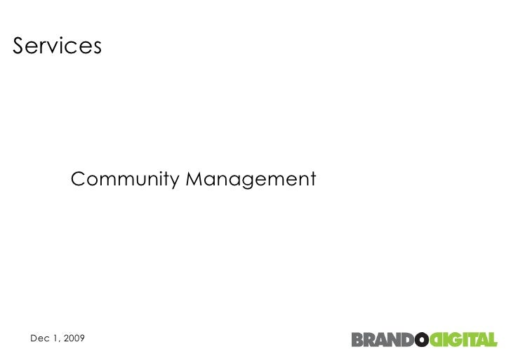 Services Community Management