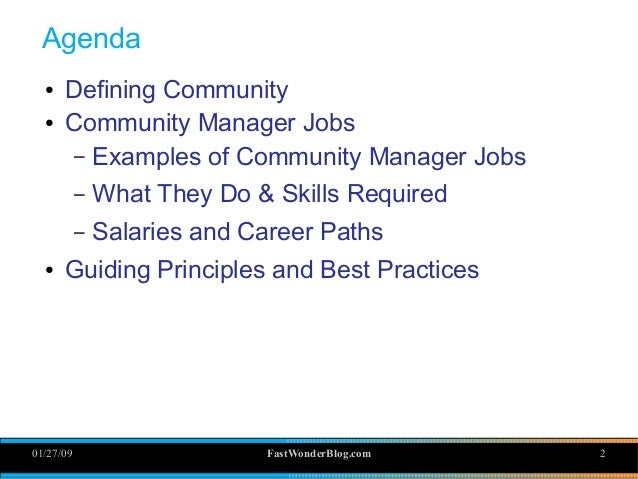 Online Community Management: Yes, it's really a job Slide 2