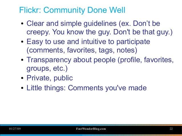 01/27/09 FastWonderBlog com 22 Flickr: Community