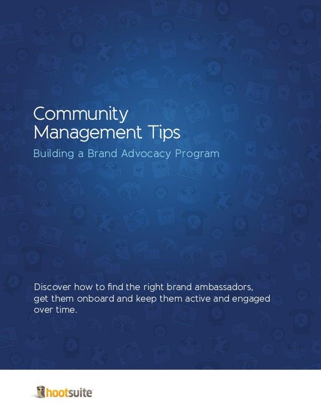 Community Management Tips: Building a Brand Advocacy Program
