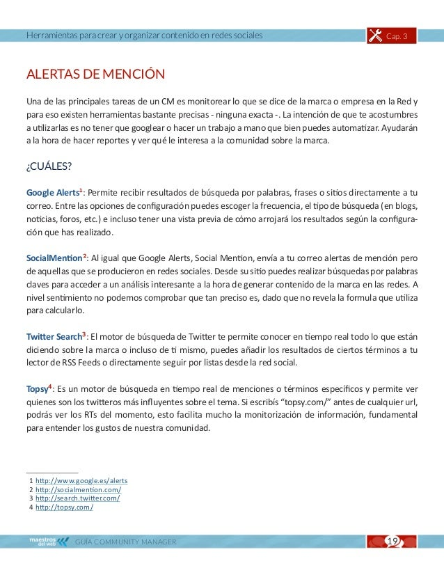 Herramientas para crear y organizar contenido en redes sociales                                 Cap. 3ADMINISTRADORES DE M...