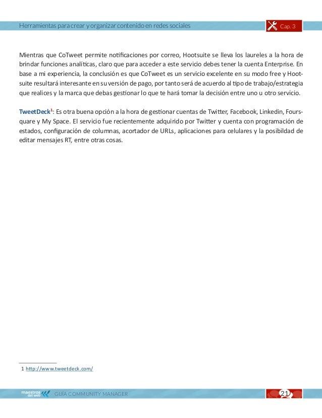 Herramientas para crear y organizar contenido en redes sociales                                  Cap. 3HERRAMIENTAS ANALÍT...
