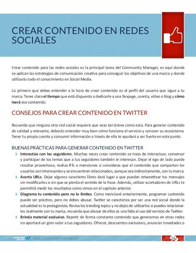 Crear contenido en redes sociales                                                              Cap. 4  adelantar productos...