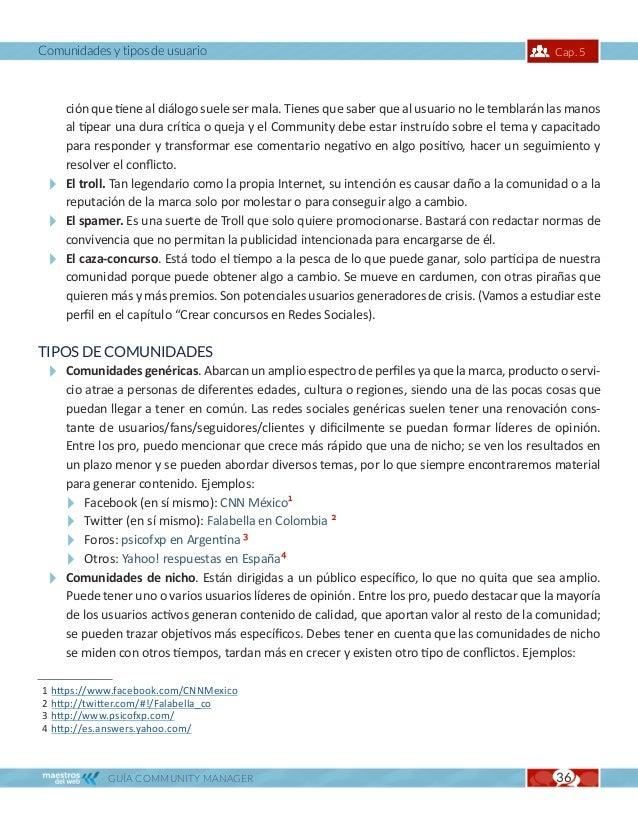 Comunidades y tipos de usuario                    Cap. 5    En Facebook: El Club de las embarazadas1.    En Twitter: Ligie...