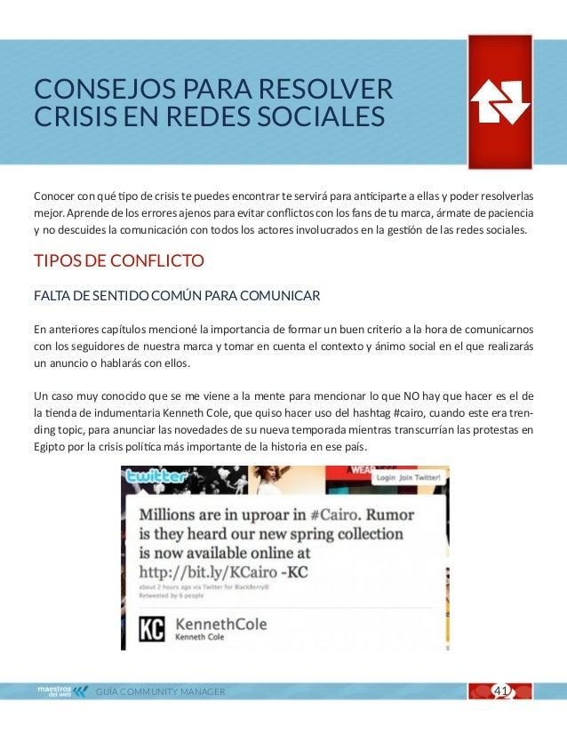 """Consejos para resolver crisis en redes sociales                                                   Cap. 6       """"Millones e..."""
