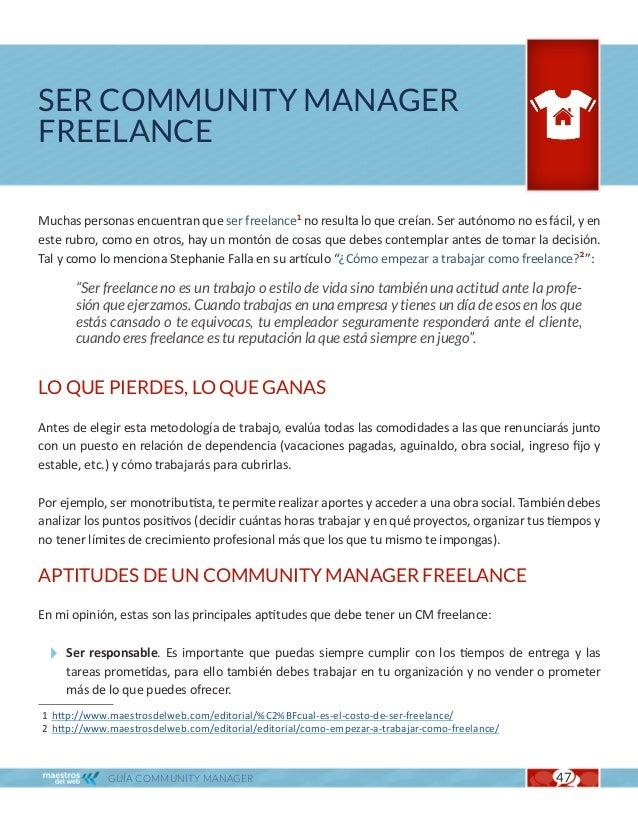 Ser Community Manager Freelance                                                                  Cap. 9 Ser organizado. Po...