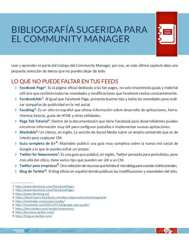 Bibliografía sugerida para el Community Manager                                                Cap. 10EBOOKS Y LIBROS Page...