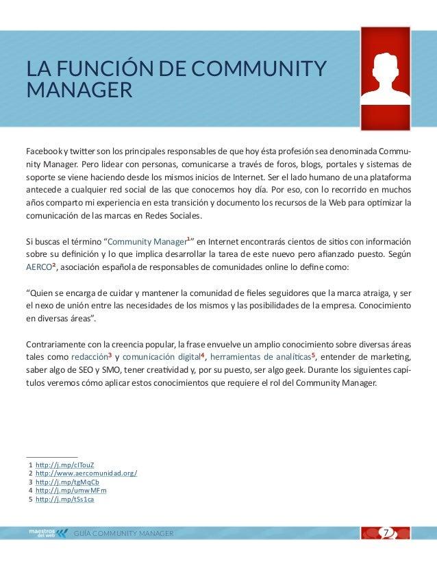 La función de Community Manager                                                                   Cap. 1La siguiente infog...