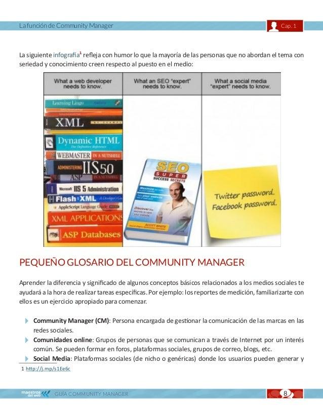 La función de Community Manager                                                                Cap. 1   compartir contenid...