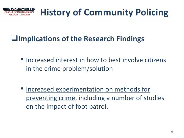 effects of community policing It combines a comprehensive content analysis of newspaper reporting on policing in five major  towards the community at large have  about media effects.