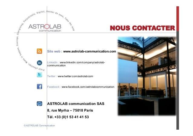 NOUS CONTACTER                  Site web : www.astrolab-communication.com                  Linkedin : www.linkedin.com/com...