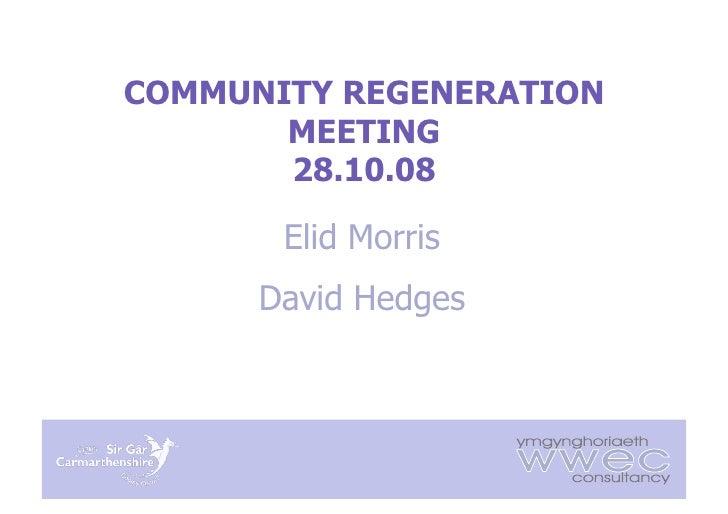 Community Regeneration Presentation