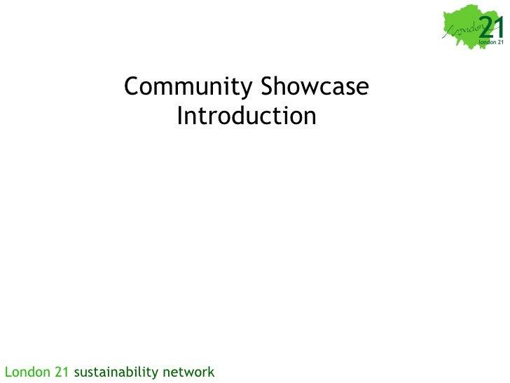 Community Showcase Introduction