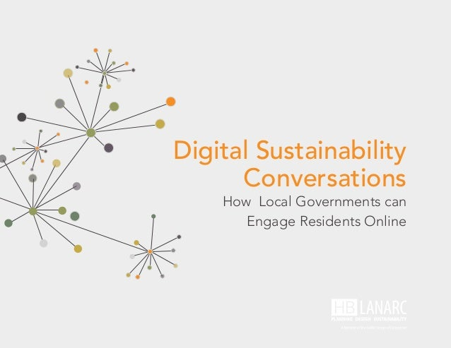 Digital Sustainability Conversations How Local Governments can Engage Residents Online