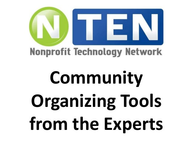 Community  Organizing Tools  from the Experts