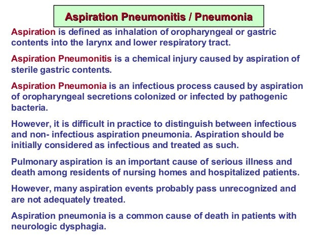 aspiration pneumonitis and aspiration pneumonia pdf