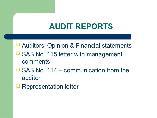 sas 115 letter community associations audit process 53110