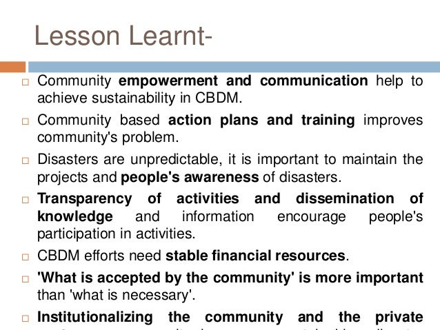 community planning for disaster management pdf