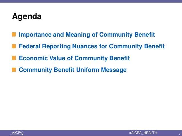 Presentation Explores Many Contexts Of Community Benefit