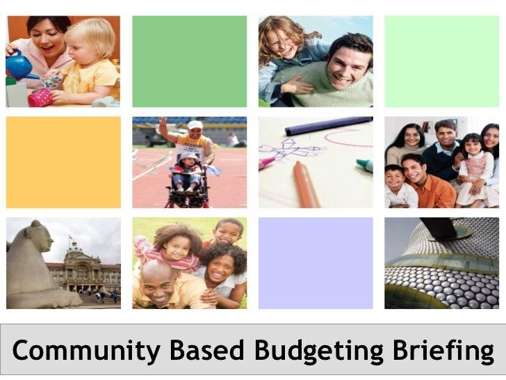 Community Based Budgeting Briefing
