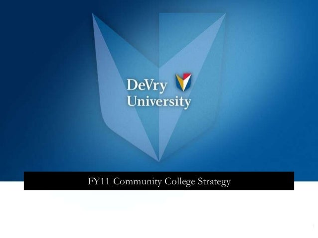 FY11 Community College Strategy  1