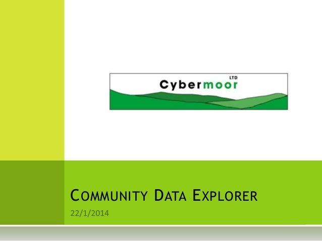 COMMUNITY DATA EXPLORER