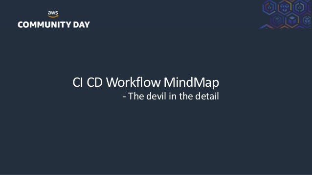 ©2018, AmazonWebServices, Inc. or its Affiliates. All rights reserved. CI CD Workflow MindMap - The devil in the detail