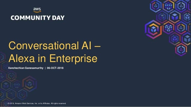 Conversational AI - Alexa in enterprise Slide 2