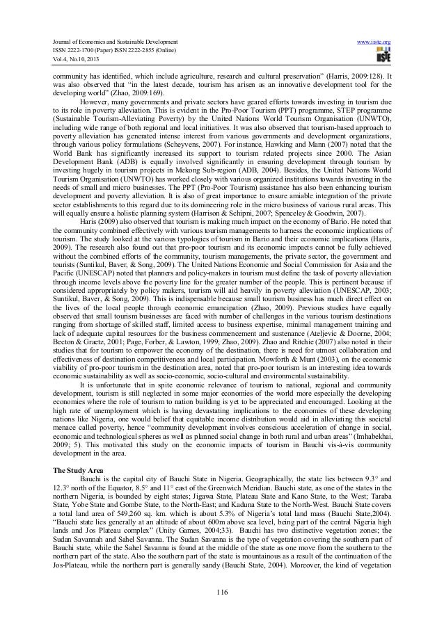 Sustainable tourism - Research Paper Example