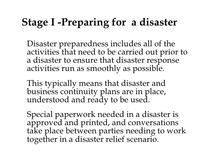 disaster response preparedness community nursing Disaster nursing this page was last preparedness phase response phase the level of community preparedness for a disaster is only as high as the people and.
