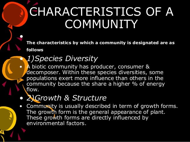 characteristics of ecology