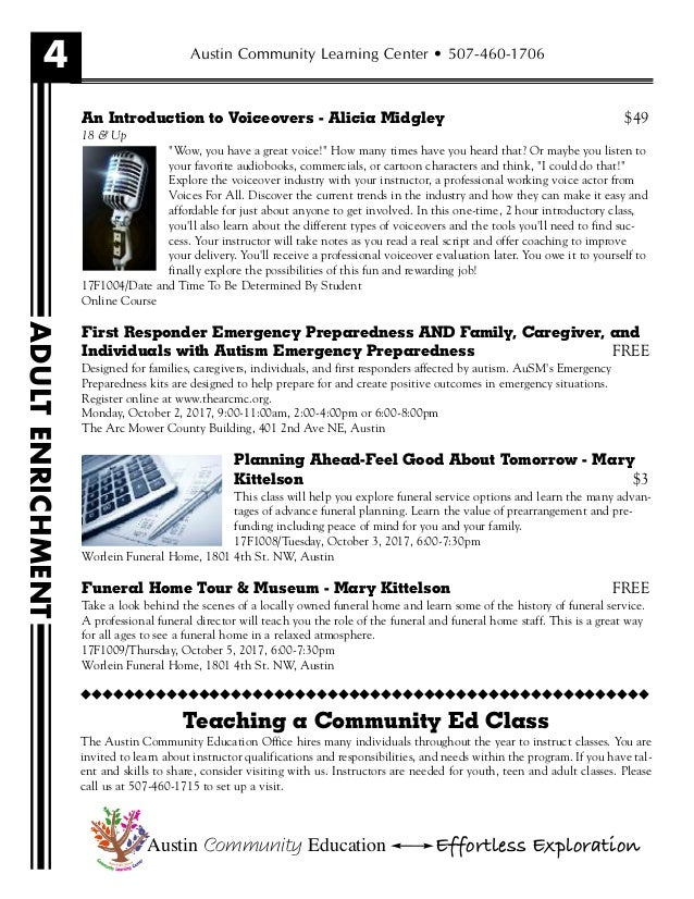 Austin Community Education Fall Brochure - Microsoft word free invoice template pioneer woman mercantile online store