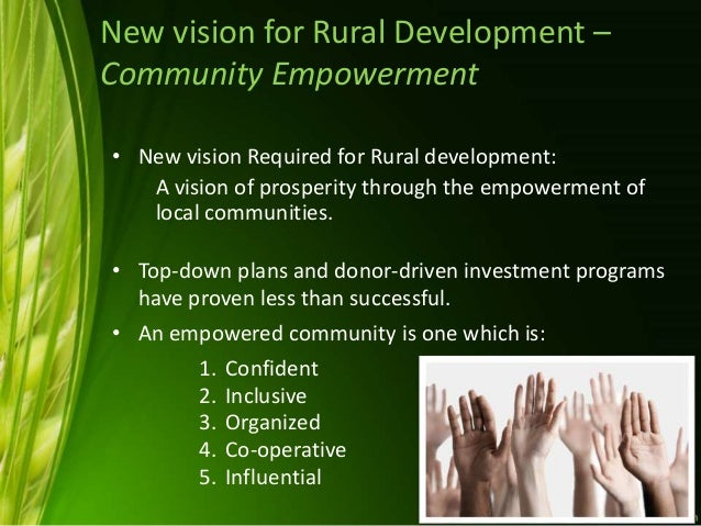advantages of community empowerment