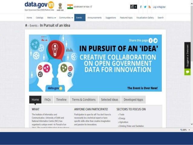 Community Engagements With Open Government Data Ogd Platform