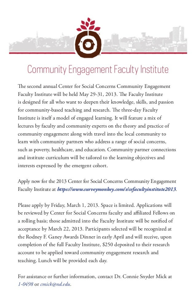 Community Engagement Faculty Institute                                           Community Engagement Faculty InstituteThe...