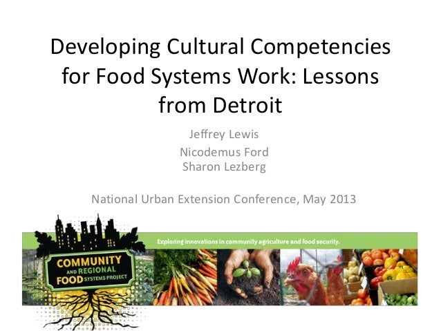 Developing Cultural Competencies for Food Systems Work: Lessons from Detroit Jeffrey Lewis Nicodemus Ford Sharon Lezberg N...