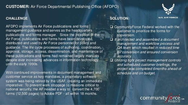 Community force federal summit deck