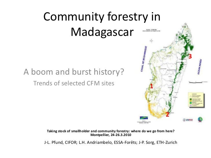 Community forestry in Madagascar<br />3<br />A boom and burst history?<br />Trends of selected CFM sites<br />1<br />2<br ...