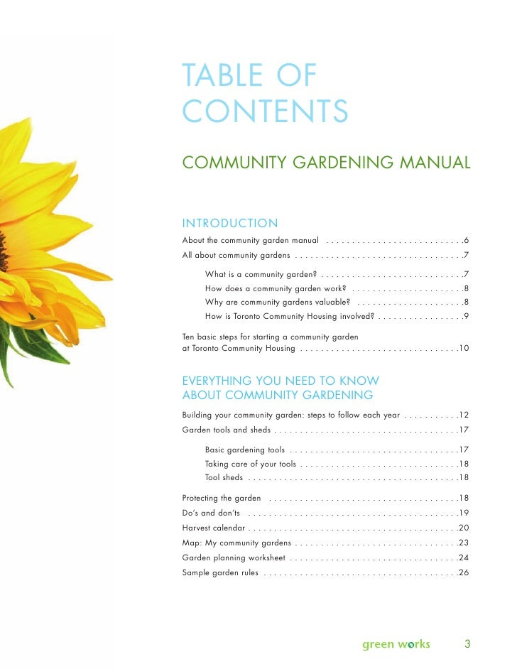 Community gardening manual toronto for Gardening tools toronto