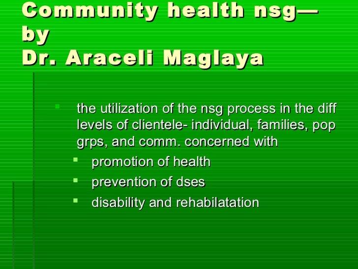 MAGLAYA COMMUNITY HEALTH NURSING PDF