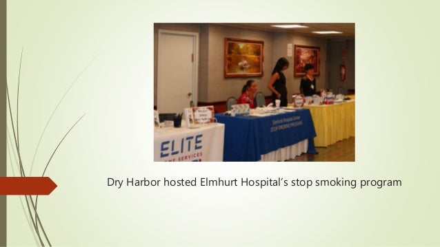 Dry Harbor hosted Elmhurt Hospital's stop smoking program