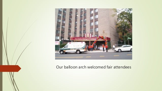 Our balloon arch welcomed fair attendees