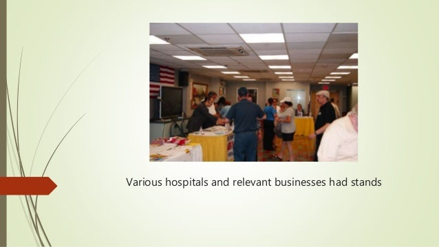 Various hospitals and relevant businesses had stands