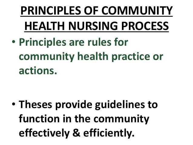 COMMUNITY HEALTH NURSING CONCEPTS