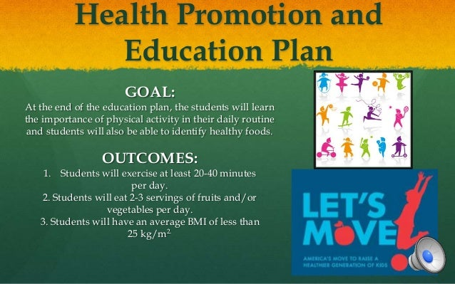 health promotion plan Established in 2001, the health promotion board (hpb) is a government organisation committed to promoting healthy living in singapore.