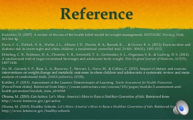 Health Belief Model - Health Promotion Model - Obesity in Adolescents Essay